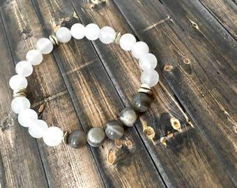 White Quartz Yoga Bracelet