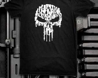 Skull of Guns Punisher T Shirt