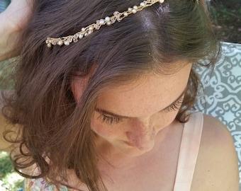 Wedding hair piece pearl wedding hair piece thin hair vine wedding hair accessories