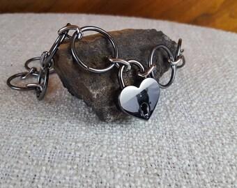 Valentine's Day Locking BDSM Collar, Bondage Collar. O ring Collar, Heart Lock, BDSM Toys, Bondage Toys, Sex Toys, Adult Toys