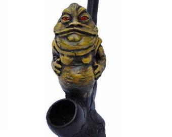 Star Wars Character on Jaba the Hutt  Handmade Tobacco Pipe, Plus 5 Brass Screens