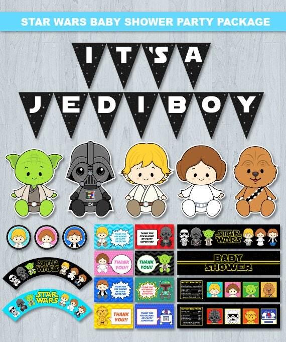 Star Wars Baby Shower Star Wars Baby Shower Decoration Star