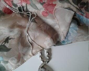 Silver/Grey Agate Pendant