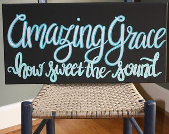 Inspirational Wall Hangings amazing grace sign | etsy