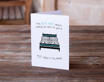 Funny Love Card | Funny Wedding Card | Funny Anniversary Card | Funny Valentine's Day Card | Funny Card | Humor Card | Anti-Valentine's Day