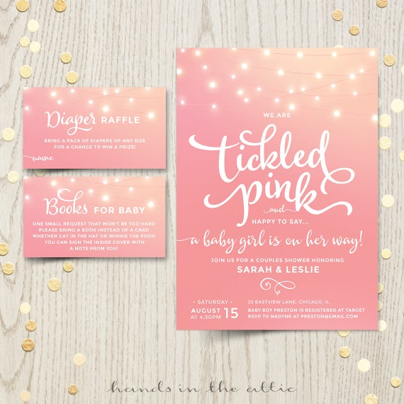 Tickled pink baby shower invitations invite printable baby girl is il570xn filmwisefo