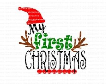 Baby Christmas svg, 1st Christmas svg, Baby's first svg, First Christmas svg, Christmas svg, My first Christmas, My 1st Christmas svg