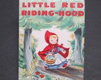 LITTlE RED RIDING-HOOD  vintage Rand Mcnally Jr Junior Elf Esther Friend 1950 hb wolf Very Good!