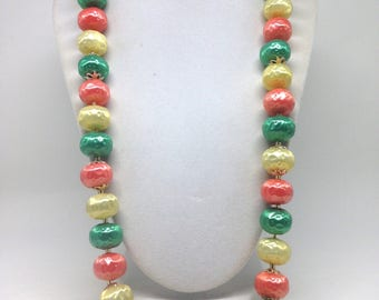 Vintage Estate Signed Japan Colorful Beaded Gorgeous Necklace