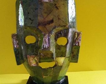 Hand Made Green Mask
