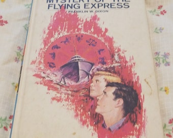 The Hardy Boys #20 ** Mystery of the Flying Express ** 1970s vtg young adult mystery novel
