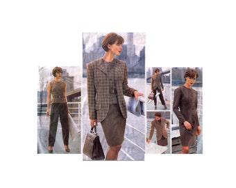 Vogue 1685, 90s sewing pattern, size 8-10 women's blazer pattern, dress pattern tapered, lined skirt, pants pattern