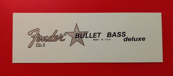 Fender Bullet Bass Deluxe Custom  Two Waterslides with each order!