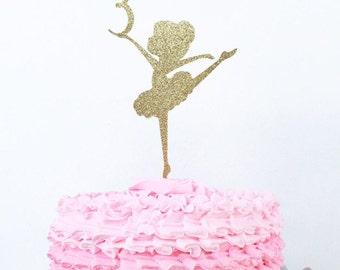 Ballerina Cake Topper / Custom Age Cake Topper / Personalized Ballerina Cake Topper / Ballerina Birthday Party / Ballerina Decorations