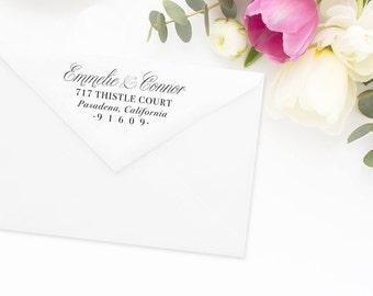 Return Address Stamp, Address Stamp, Custom Address Stamp, Wedding Return Address Stamp, Personalized Return Address Stamp, Rubber Stamp #62