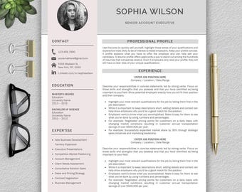 Resume Template | Professional Resume Template | CV Template for Word | Modern Resume Template | Resume Template Instant Download