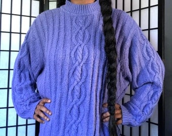 Oversized Blue Vintage Sweater