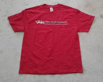 Vintage 90's Deadstock Tommy Hilfiger Denim Red t-shirt XL