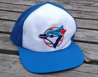 Vintage 80's Toronto Blue Jays Snapback Mesh Trucker Cheesegrater Baseball Cap Hat