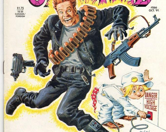CRACKED Magazine #266 The Terminator Arnold Schwarzenegger October 1991 Issue