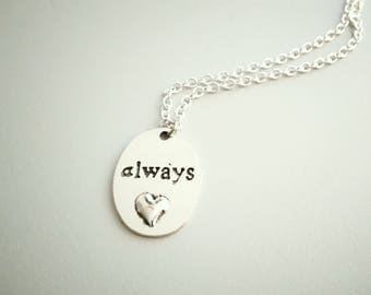 Harry Potter 'Always' chain. Severus Snape. Harry Potter chain with pendant