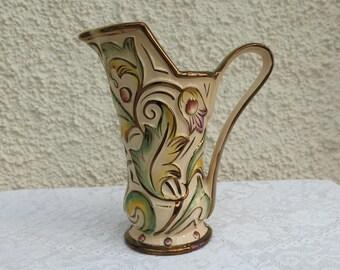 Vintage 1950's Ceramic Jug by Wade, England - 'Gothic' design