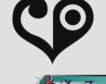 Vinyl Decal- Digimon Crest of Love Decal