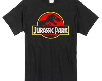 Jurassic Park T-Shirt black 100% cotton dinosaur t-rex jurassic world
