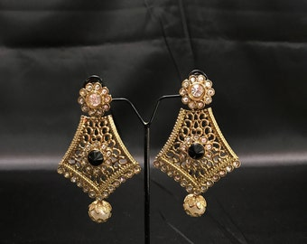 Indian Bridal - Indian Earrings - Kundan Earrings - Kundan Bridal - Indian Jewelry - Kundan Jewelry - Pakistani Jewelry - Jhumki Jhumka Desi