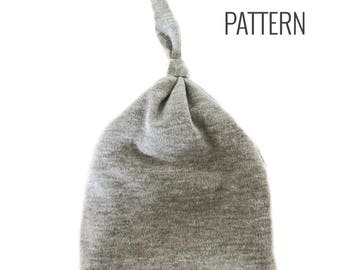Knotted Newborn Hat Pattern   PDF Pattern   Instant Download   Hospital Hat   Newborn Cap   Beanie