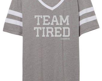 Team Tired football tee