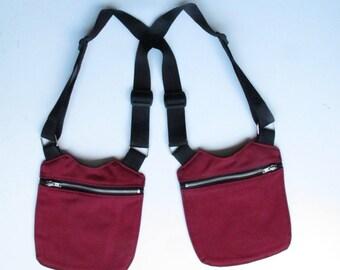 Unisex Boredeaux/Bordeaux unisex HOLSTER Bag Holster Bag