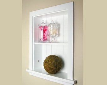 14x18 Recessed Wall Niche by Fox Hollow Furnishings - stylish storage in 2 colors!