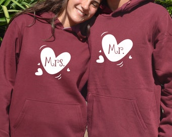 Mr and Mrs Hoodies For Couple Matching Hoodies For Couples 2 Matching Hoodies For Honeymoon Unique Christmas Gifts For Couples Gift Ideas