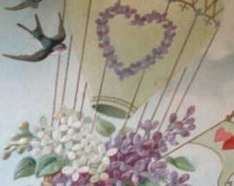 Nice Vintage Floral/Fantacy Postcard