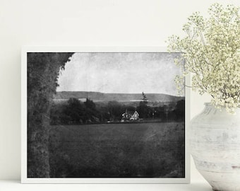 Black and white photography Vintage style Rustic wall decor Printable poster A3 Digital download Home interior picture Housewarming gift