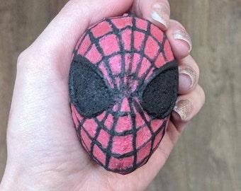 Spiderman inspired bath bomb