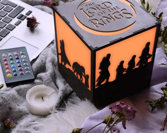 Lord of the rings art, Modern bedside lamp, The Hobbit, Boys room decor,  Lord of the rings decor,  Lord of the rings gift,  Middle earth