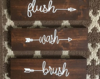 Wooden Sign Bathroom Decor