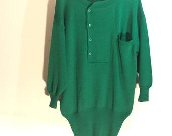 Oversized green sweater / Green sweater dress