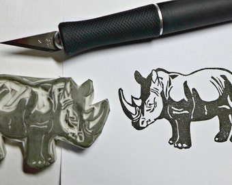 Rhino Rubber Stamp