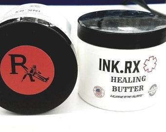 Ink.RX Organic Tattoo Healing Butter/Salve/Oil/Cream/Lotion (4 oz Jar)
