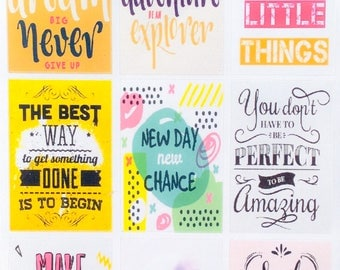 0226-Positive Motivational Stickers/Inspiring/Affirmation/Great Day/Success/Inspirational//Happy Planner/Stinky Feet Stickers