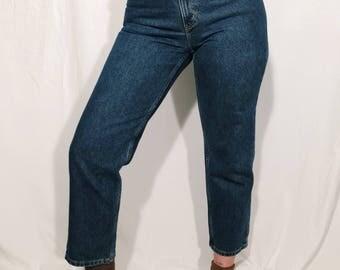 Dark Wash High Waisted Jeans