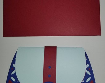 3D Purse card-Gift card/Birthday/Any Occasion-HANDMADE