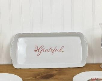 Sandwich tray, dessert plate, serving platter, personalize......
