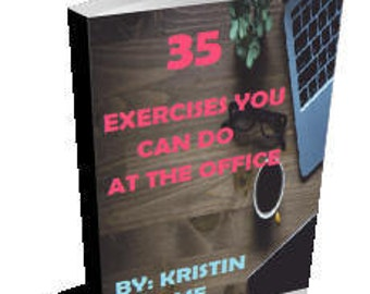 Exercise and Fitness eBook - Fitness Handbook For Desk Jobs - How To Stay Fit And Healthy At The Office - Instant Digital Download eBook