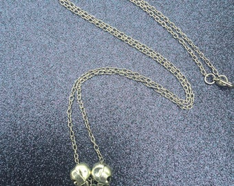Silver skull with bling necklace