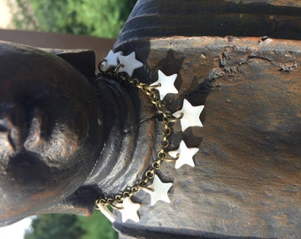 Bracelet bronzes collection star mother of Pearl
