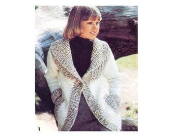 Bulky Winter Jacket Knitting Pattern with Scarf